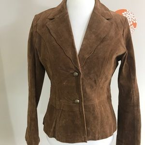 Coldwater Creek Rustic Leather Suede Jacket